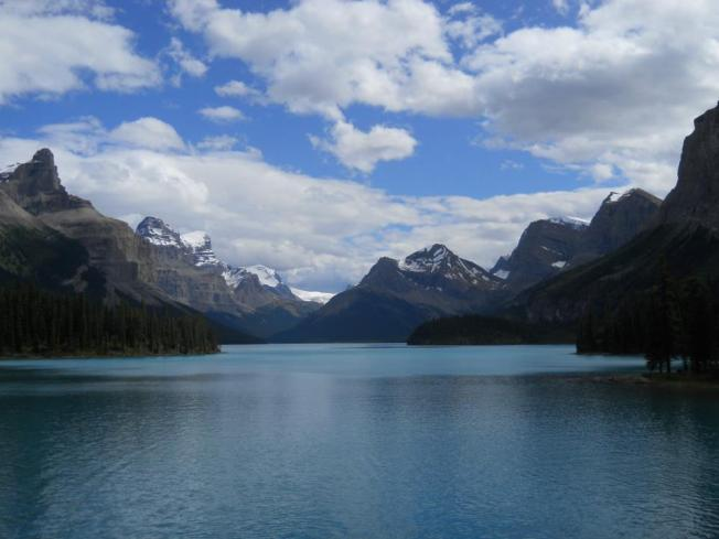 Majestic views of Maligne Lake from Spirit Island will put a spell on you