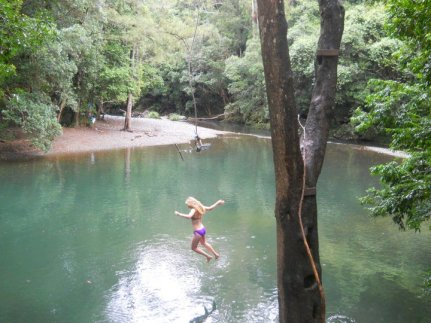 Playing in the Never Never Creek, NSW