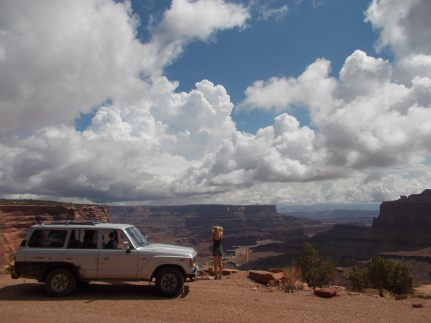 Commencing the Shafer Canyon Trail in Canyonlands National Park